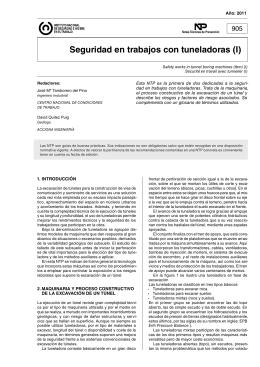 Nueva ventana:NTP 905: Seguridad en trabajos con tuneladoras (I) (pdf, 345 Kbytes)