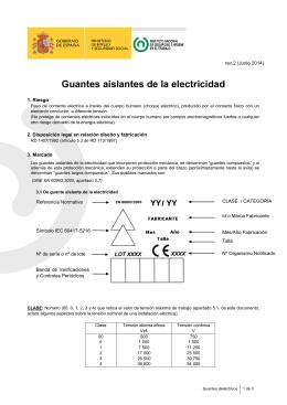 Nueva ventana:Guantes dieléctricos (pdf, 118 Kbytes)
