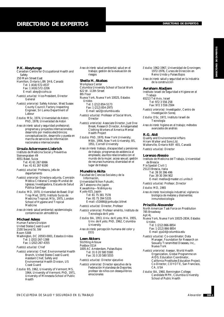 Nueva ventana:Directorio de expertos (pdf, 375 Kbytes)