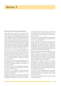 Nueva ventana:Anexo 1: Datos de siniestralidad laboral (pdf, 48 Kbytes)