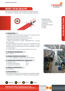 CATALOGO CABLES -N2XSY 18-30 (36) KV