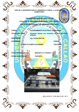 2° INFORME DE ACCIONAMIENTO ELEC.
