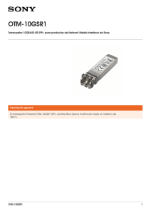 OTM-10GSR1 Transceptor 10GBASE-SR SFP+ para productos de Network Media Interface de...