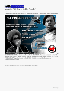 "Jornadas ""All Power to the People"""