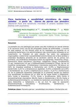 Flora bacteriana y sensibilidad microbiana de cepas aisladas a partir de úteros de perras con piometra