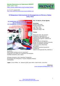 ISSN 1695-7504  II Simposium Internacional de Emergencias en Perros y Gatos