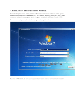 instalacion windows 7