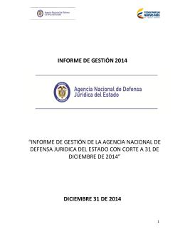 Informe de Gestión anual 2014