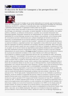 El discurso de Raúl en Camaguey y las perspectivas del
