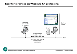 Escritorio remoto en Windows XP Profesional
