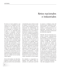 Editorial: Retos Nacionales e Industriales