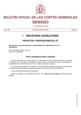 Ley de Racionalidad y Sostenibilidad de la Administración Local,