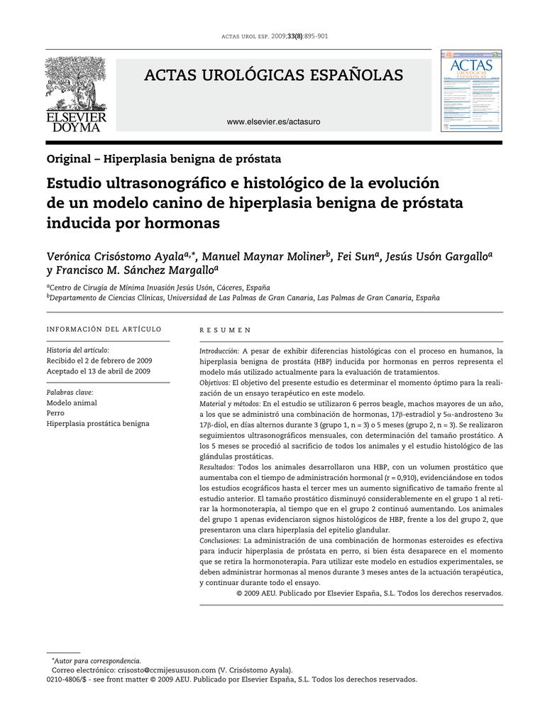 hiperplasia benigna de prostata pdf 2020