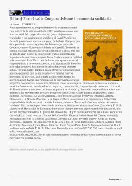 [Libro] Fer el salt: Cooperativisme i economia solidaria