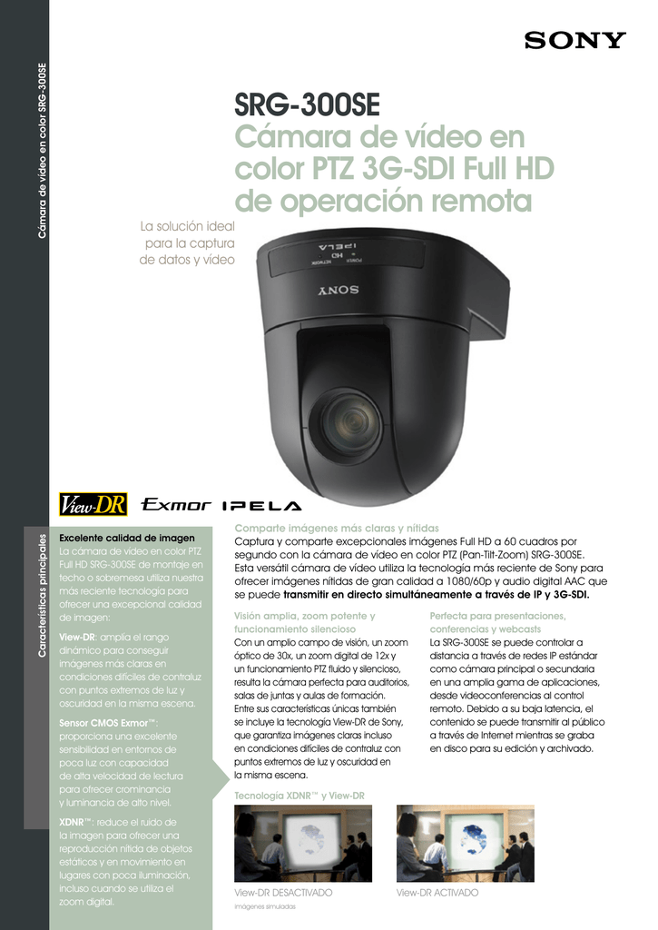 SRG-300SE Cámara de vídeo en color PTZ 3G-SDI Full HD