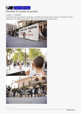 [Sevilla] Ni olvido ni perdón
