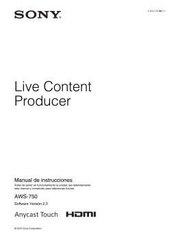 Live Content Producer Manual de instrucciones