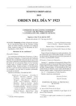 Orden del Día 1923