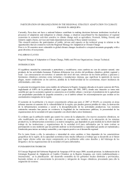 PARTICIPATION OF ORGANIZATIONS IN THE REGIONAL STRATEGY ADAPTATION TO CLIMATE