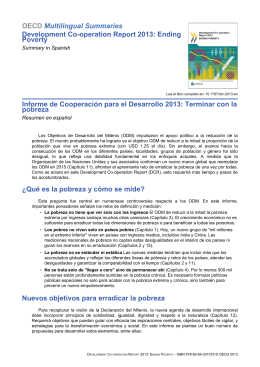 OECD Multilingual Summaries Development Co-operation Report 2013: Ending Poverty