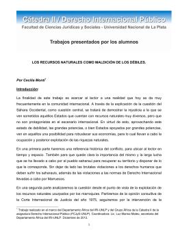 """""""LOS RECURSOS NATURALES COMO MALDICIÓN DE LOS DÉBILES"""""""