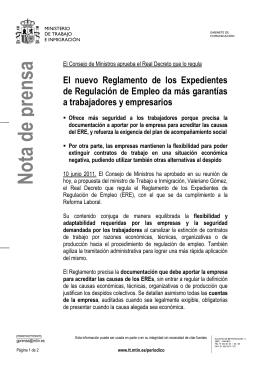 decreto que regula los expedientes de regulación de empleo