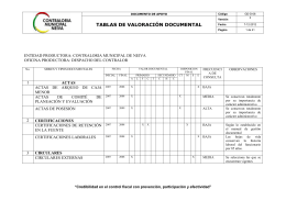 GD-D-08 TABLAS DE VALORACION DOCUMENTAL