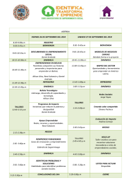 Descarga la agenda del Evento»