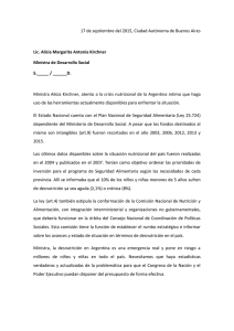 Carta a Alicia Kirchener