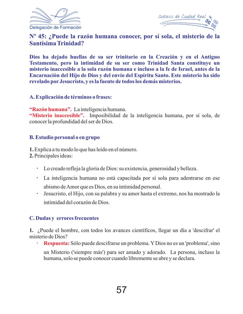 Nº 45 Puede La Razón Humana Conocer Por Sí Sola El
