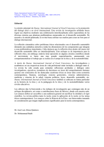 Editorial La misión principal de Daena: International Journal of