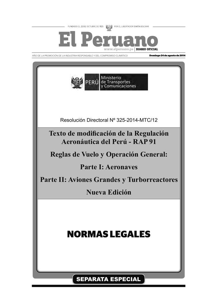 87b3cae908 Texto de modificación de la Regulación Aeronáutica del Perú