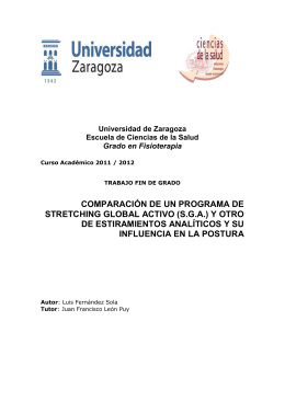 COMPARACIÓN DE UN PROGRAMA DE STRETCHING GLOBAL