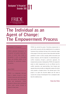 The Individual as an Agent of Change: The Empowerment