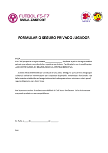 documento seguro medico privado
