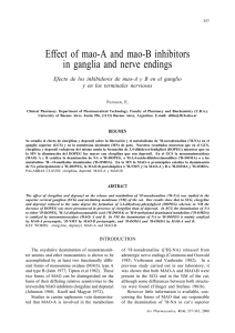 Effect of mao-A and mao-B inhibitors in ganglia and nerve endings