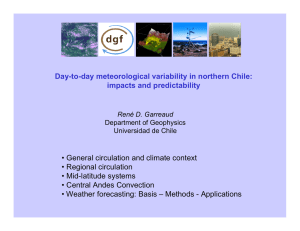 Day-to-day meteorological variability in northern Chile: impacts and