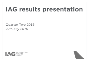 IAG results presentation