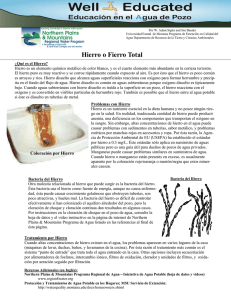 Hierro o Fierro Total - Northern Plains and Mountain Regional Water