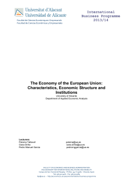The Economy of the European Union: Characteristics, Economic