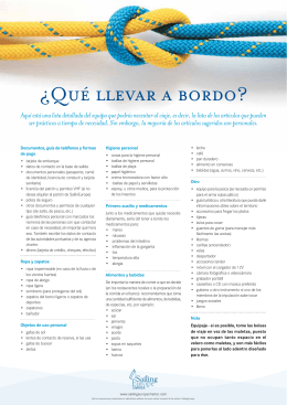 ¿Qué llevar a bordo? - Sailing Europe Charter