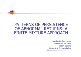 patterns of persistence of abnormal returns: a finite mixture approach