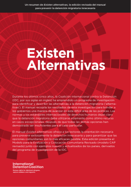 Existen Alternativas - International Detention Coalition