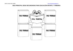 IDEA PRINCIPAL IDEAS SECUNDARIAS PARA EDUCACIÓN