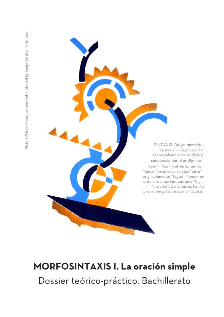 Morfosintaxis I La Oración Simple Dossier Teórico