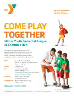 Youth Basketball League EL CAMINO YMCA