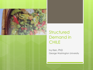 Structured Demand in CHILE - Trachtenberg School of Public Policy