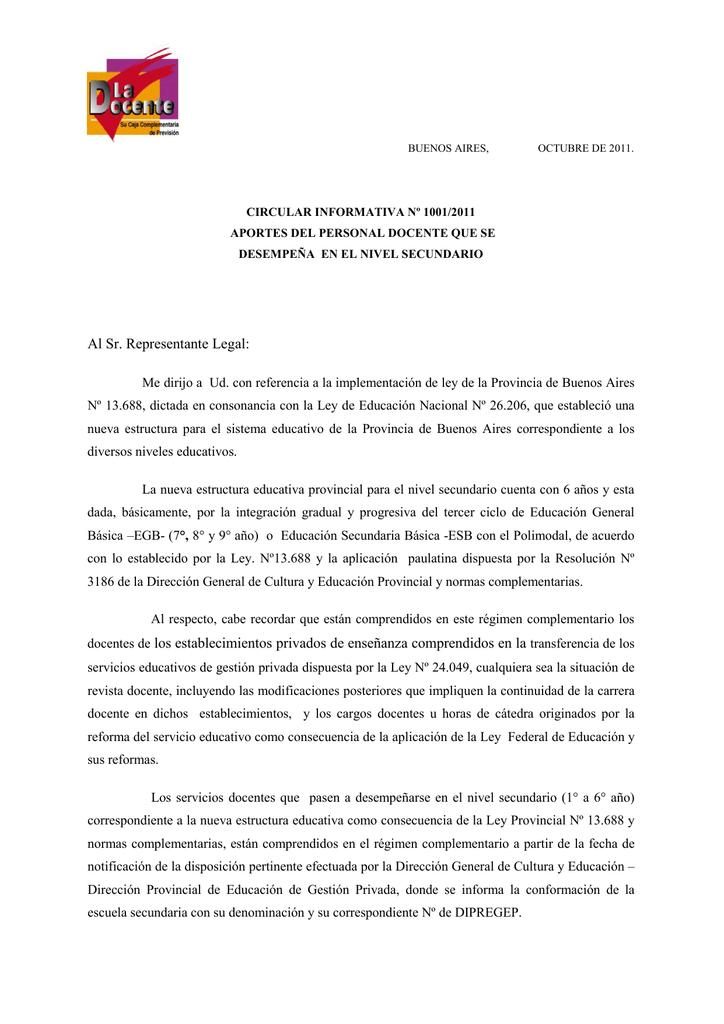 Al Sr Representante Legal Caja Complementaria De Previsión