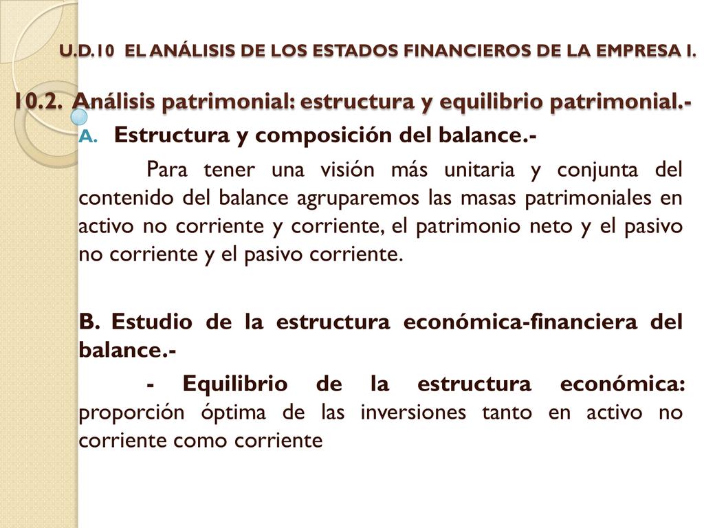 10 2 Análisis Patrimonial Estructura Y Equilibrio Patrimonial