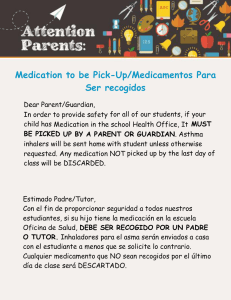 Medication to be Pick-Up/Medicamentos Para Ser recogidos